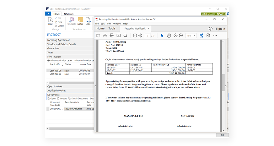 Automated documents managament factoring | Soft4Leasing